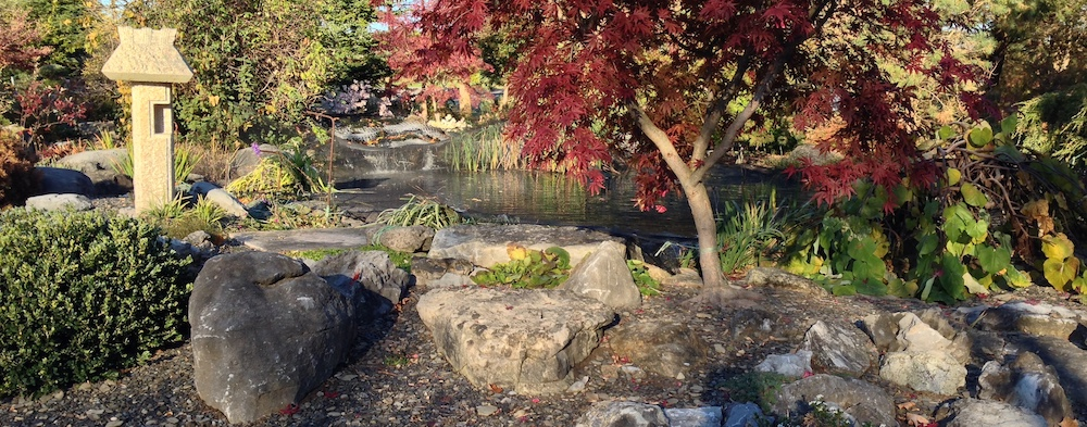 topiary gardens waterfall pond